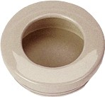 Hardware Concepts 2180-328 - Recessed Pull, Length 2-7/16, Almond, Nylon Series