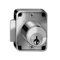 CompX C8139-915-26D, Springbolt Lock for Drawers, Surface Mounted Cylinder Length 3/4, Bolt Travel 7/32, Keyed #915, Satin Chrome