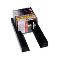 Rev-A-Shelf 371-VCR-10, VCR Storage Rails, 1-1/2 W x 12-1/2 D x 1-9/16 H, Black, Packed per 10-Prs
