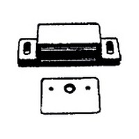 WW Preferred 5360.BN.26 - 1-3/4 L, Plastic Single Magnetic Catch with Strick Plate, Pull Force 9 lb., Brown