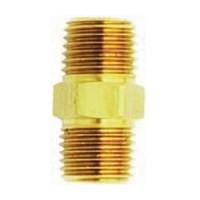 Milton 646, Fitting, Brass, Male Hex Nipple, 1/4 x 1/4
