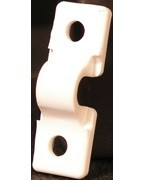 Schulte 1435-6645-11, Ventiltaed Shelving Back Clip, White