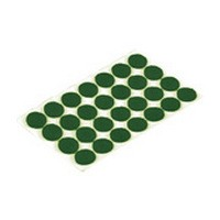 Shepherd 9421, Round Felt Bumpers, Self-Adhesive, Size 3/8 Dia, Green, 1,008-Pack