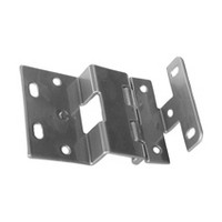WW Preferred PROIH74-26D 5 Knuckle Overlay Hinge, For 3/4 Thick Doors, Dull Chrome