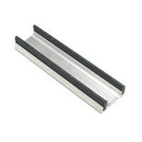 Engineered Products (EPCO) 821A-4 Aluminum Sliding Door Lower Track for 3/4 Thick Doors, 1-3/16 W x 15/32 H x 48 L, Anodized Aluminum
