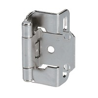 Amerock BP7550G10, Partial Wrap Self-closing Face Frame Hinge, Standard Tip, 1/2 Overlay, Satin Nickel