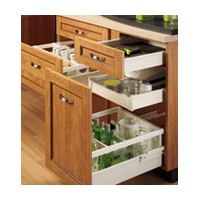 Grass 11901-15 21-5/8 Drawer Slide, 3-3/8 Side Height, White