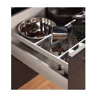 Grass 68579-04 16in (400mm) Side Railing Set with Tilt Adjustment, Champagne