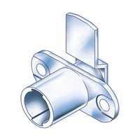 CompX Timberline CB-183 Timberline Lock Cylinder Body Only, Horizontal Mount, 180 Deg Rotation, Cylinder Length 3/4, Setback 3/32, Cam Ext 1-1/4