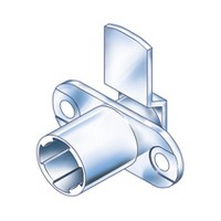 CompX Timberline CB-083 Timberline Lock Cylinder Body Only, Horizontal Mount, 90 Deg Rotation, Cylinder Length 3/4, Setback 3/32, Cam Ext 1-1/4