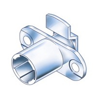 CompX Timberline CB-080 Timberline Lock Cylinder Body Only, Horizontal Mount, 90 Deg Rotation, Cylinder Length 3/4, Setback 3/32, Cam Ext 13/16in