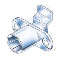 CompX Timberline CB-085 Timberline Lock Cylinder Body Only, Horizontal Mount, 90 Deg Rotation, Cylinder Length 3/4, Setback 15/32, Cam Ext 13/16in