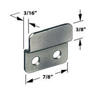 CompX Timberline SP-255-1, Timberline Lock Accessories, Strike Plate for Cam or Deadbolt Locks, Bright Nickel
