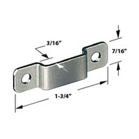 CompX Timberline SP-250-1, Timberline Lock Accessories, Strike Plate for Deadbolt Locks, Bright Nickel