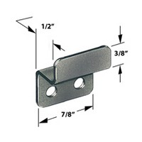 CompX Timberline SP-256-1, Timberline Lock Accessories, Strike Plate for Cam or Deadbolt Locks, Bright Nickel