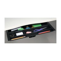 Custom Plastics CPF-89777, Pencil Drawer Pull-Out, Wide Double Compartment, Black