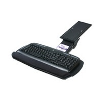 Knape and Vogt KV OMN-80, Mouse Pad, Swivel-Out, for KV's SD Series Keyboard Trays, Black