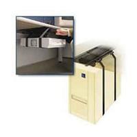 Weber-Knapp 25247 2 162, Under Desk CPU Holder, 75lb Rating, Deluxe Strap Design With Slide and Swivel Features