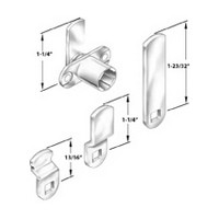 CompX Timberline CB-165, Timberline Lock Cam Lock Kit, Cylinder Body with 4 Cams, Mounts in 3/4 Material, Horizontal and Vertical Mount, 90 degree Rotation, Cylinder Length 3/4, Cams included: 13/16 bent, 1-1/4 bent and 1-23/32 straight