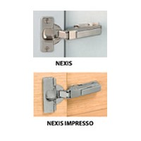 Grass 146.729.35.4515 125 Deg Nexis Impresso Hinge, Negative 45 Deg, Toolless
