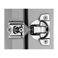 Grass 04493-15 TEC Self-close Hinge, Wrap Mount, 1-1/4 Overlay, Screw-on, 45mm Boring Pattern