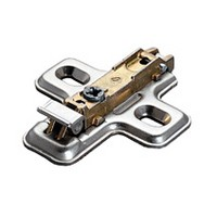 Salice BAV3L09F, 0mm Steel Mounting Plate, 1 Cam, Screw-on
