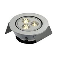 Hera HO-LED1 3 Watt LED Puck Light, HO-LED Series, Low Voltage, Recess Mount, Cool White, Aluminum