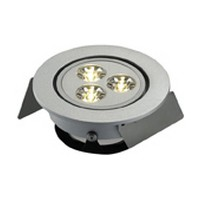 Hera HO-LED1/WW 3 Watt LED Puck Light, HO-LED Series, Low Voltage, Recess Mount, Warm White, Aluminum