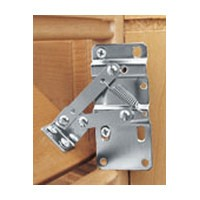 Rev-A-Shelf 6542-97-11-4 Pivot Hinges and White End Caps, Bulk-Pk Slim Series Polymer Sink Tip-Out Trays