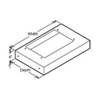 VMI 9106 BIS 30 W Rectangle Hood Liner, Air Pro, Biscuit