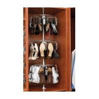Rev-A-Shelf CLSZ-M3-55-1-8, Men's Lazy Shoe-Zen, 3-Shelf Rotating Shoe Organizer, 55 H, 8-Pk