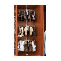 Rev-A-Shelf CLSZ-W5-96-1-6, Women's Lazy Shoe-Zen, 5-Shelf Rotating Shoe Organizer, 96 H, 6-Pk
