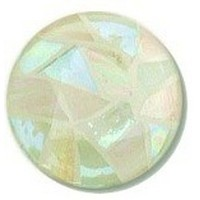 Glace Yar GYK-416SN112, Round 1-1/2 Dia Glass Knob, Random, Mint Green, Light Peach, White Grout, Satin Nickel