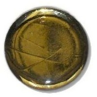 Glace Yar GYKR-11SN1, Round 1in Dia Glass Knob, Solid Color, Gold cathedral (clear) glass., Satin Nickel Base