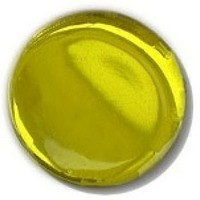 Glace Yar GYKR-YELAB112, Round 1-1/2 Dia Glass Knob, Solid Color, Topaz Yellow, Antique Brass