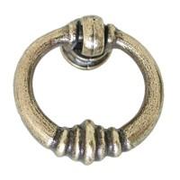 Hi Line HL19.5000.68, Antique Brass Ring Pull , Antique Brass