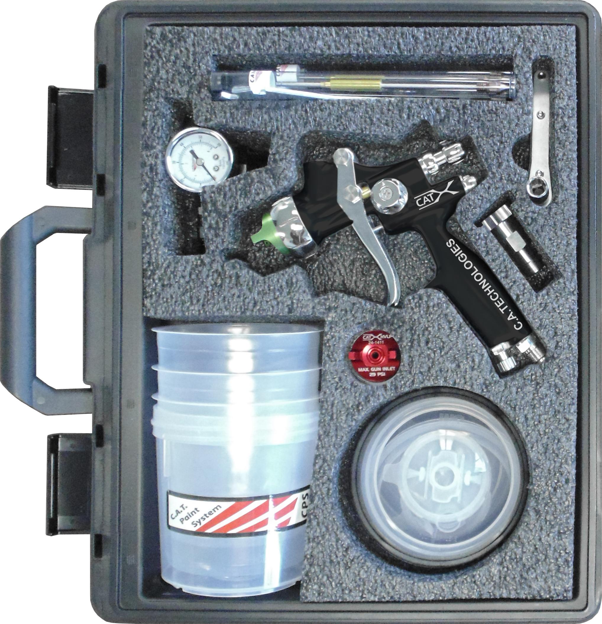 CA Tech CPCAT-X-B-W-PPS, CAT-X Extreme HVLP Compliant Kit, Black Teflon Handle PPS Setup