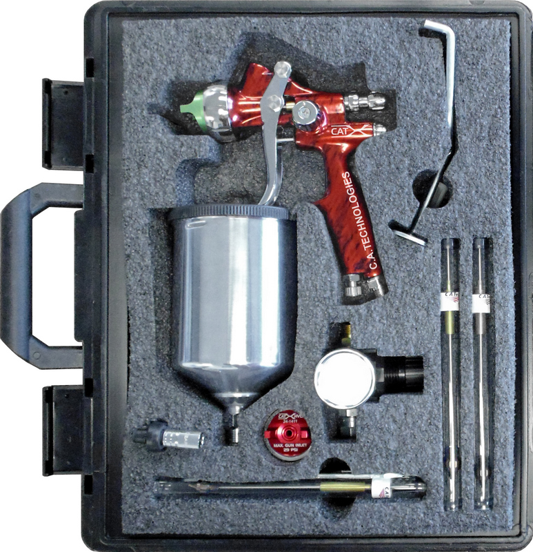 CA Tech CPCAT-X-M-W, CAT-X Extreme HVLP Compliant Kit, Red Marble Handle