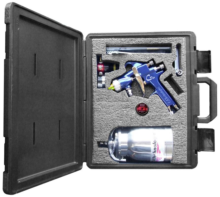 CA Tech CPR-303R2, CPR HVLP/Compliant Gun Kit, 1Qt Pressure Cup with Regulator
