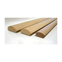 Great Lake Woods 4L34, Radius L-Molding, 4in Radius x 97 L, Made of MDF, Accepts 3/4 Panel Size