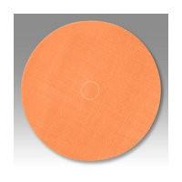 3M 51141274898 Abrasive Discs, Trizact Film, 5in, No Hole, Hook & Loop, Orange