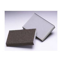 3M 51115006302, Sanding Sponges, Aluminum Oxide, 3 Sided Block, Medium Grit, Bulk Packed