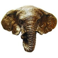 Notting Hill NHBP-853-AB, Goliath (Elephant) Bin Pull in Antique Brass, All Creatures