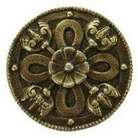 Notting Hill NHK-103-AB, Celtic Shield Knob in Antique Brass, Jewel Collection