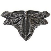 Notting Hill NHK-107-AP, Dragonfly Knob in Antique Pewter, Arts & Crafts Collection