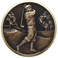 Notting Hill NHK-130-AB, Gentleman Golfer Knob in Antique Brass, Great Outdoors Collection