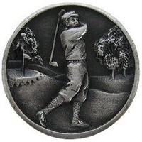 Notting Hill NHK-130-AP, Gentleman Golfer Knob in Antique Pewter, Great Outdoors Collection