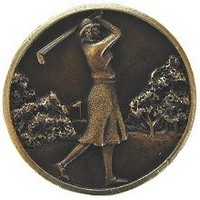 Notting Hill NHK-131-AB, Lady Of The Links Knob in Antique Brass, Great Outdoors Collection