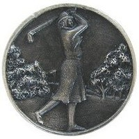 Notting Hill NHK-131-AP, Lady Of The Links Knob in Antique Pewter, Great Outdoors Collection