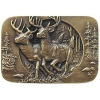 Notting Hill NHK-136-AB, Bucks On The Run Knob in Antique Brass, Great Outdoors